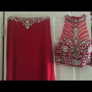 ALYCE Designs red 2 piece formal size 8